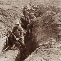 Early Trench in Front Lines