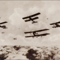 A Flight of Bombing Planes 1st Australian Flying Corps, Palestine