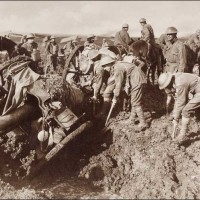 Australian Pioneers Salving a 4.5 Howitzer