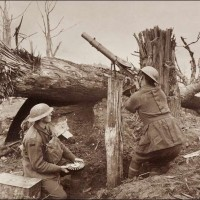 Sniping Enemy Planes With a Lewis Gun