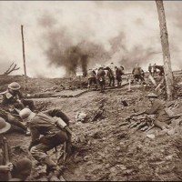 Carrying in the Wounded During the Height of the Battle